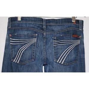 7 For All Mankind 31 X 30.5 DOJO Flip FLop Jeans